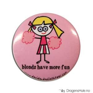 Bilde av Button 37mm: Blöndie: Blondz have more fun