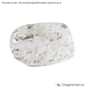Bilde av Mineral: Tromlet Bergkrystall, /´Cracked Quartz´ hvit