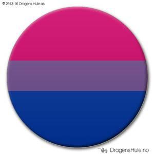 Bilde av  Button: Flagg Pride Bi