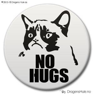 Bilde av  Button: No Hugs Grumpy (velg farge)