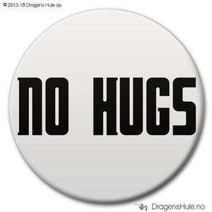 Bilde av  Button: No Hugs (velg farge)